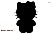Hello Kitty Cat With Teddy Silhouette