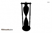 Black And White Hourglass Silhouette