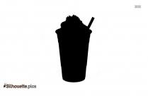 Black And White Iced Espresso Silhouette