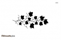 Black And White Ivy Tattoo Silhouette