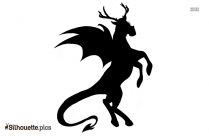 Black And White Jersey Devil Silhouette