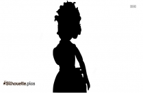 Black And White Jet Doll Silhouette