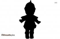 Black And White Kewpie Figurines Silhouette