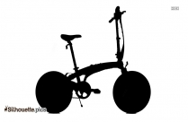 Black And White Kids Cycle Silhouette