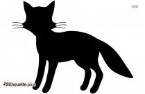 Cute Fox Silhouette Clipart