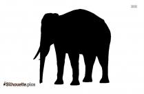 Elephant Walking Silhouette Drawing