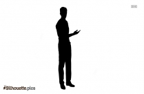 Black And White Man Standing Silhouette