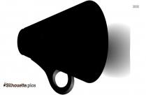 Black And White Megaphone Silhouette