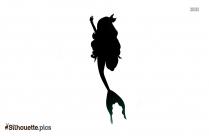 Mermaid Doll Silhouette Drawing