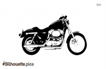 Black And White Motorcycle Silhouette, Bike Logo