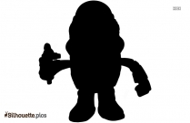 Black And White Mr Head Silhouette Drawing
