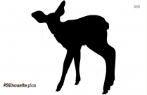 Woodlands Deer Silhouette Clip Art