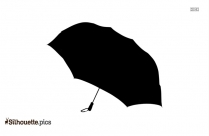 Black And White Open Umbrella Silhouette