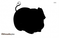 Pig With Umbrella Clip Art Silhouette
