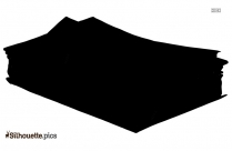 Black And White Pile Of Papers Silhouette