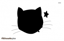 Black And White Pirate Cat Silhouette
