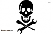 Pirate Skull ClipArt Silhouette