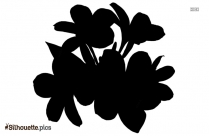 Cartoon Japanese Lotus Flower Silhouette