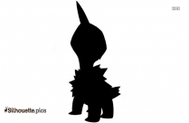 Black And White Kootie Pie Koopa Silhouette
