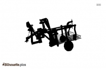 Potato Digger Gun Silhouette Free Vector Art
