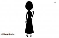 Black And White Princess Fiona Silhouette