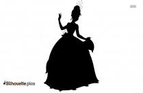 Black Princess Jasmine Silhouette Image