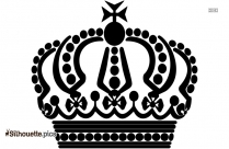 Black And White Queen Crown Silhouette