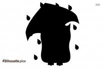 Black And White Rainy Owl Silhouette