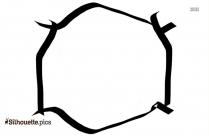 Black And White Ribbon Border Silhouette
