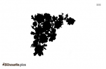 Flower Divider Silhouette
