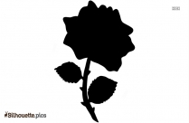 Simple Flower Silhouette Image