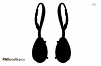 Flower Dangle Earring Silhouette Vector And Graphics
