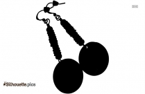 Black And White Rustic Earrings Silhouette