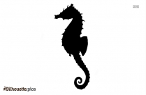 Black And White Seahorse Silhouette Image
