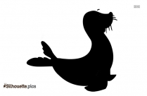 Black And White Muskrat Silhouette