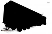Black And White Semi-trailer Truck Silhouette
