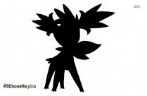 Black And White Shaymin Pokemon Silhouette