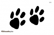 Hippo Footprints Silhouette Black And White