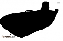 Inflatable Boat Silhouette Drawing