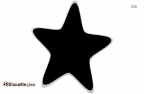 Black And White Star Silhouette