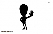 Two People Shaking Hands Drawing Silhouette