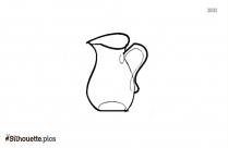 Black And White Tea Mug Silhouette Drawing