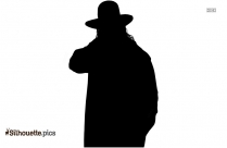 Black And White The Undertaker Silhouette