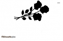 Black And White Single Rose Silhouette