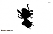 Angel Praying Silhouette Clipart