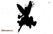 Black And White Tooth Fairy Silhouette Background Image