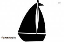 Black And White Toy Sailboat Silhouette