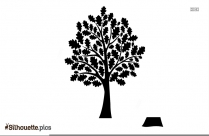 Tree Drawing Silhouette Free Vector Art Illustration