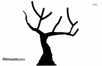 Free Fall Tree Trunk Silhouette