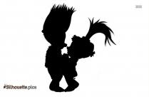 Trolls Fuzzbert Clipart || Harper Troll Silhouette